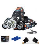 3T6 linterna 3000 lúmenes de alta potencia LED linterna Boruit 3xCREE XM-L T6 4 modo Faro completo Set