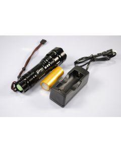 2170 UF UniqueFire Cree XM-L T6 1200 lúmenes memoria LED linterna incluida battry y cargador