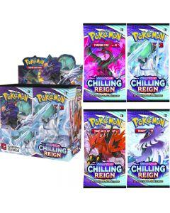 360pcs Pokémon TCG: Sword & Shield Chilling Reign Booster Display Box Tarjeta de colección