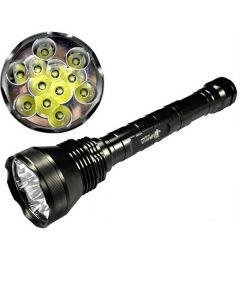 EternalFire 12T6 alta potencia 12 * Cree XM-L T6 linterna LED 13800 Lumens 5 modos linterna LED conjunto luz unidad sólo