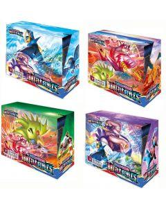 2021 NUEVO 4x360PCS Pokemon TCG: Sword & Shield Styles Battle Styles Box Box Tarjeta de comercio Juguetes Juguetes
