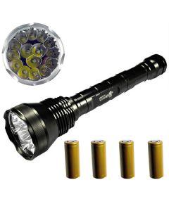 EternalFire 15T6 alta potencia 15 * Cree XM-L T6 LED antorcha 18000 Lumens 5 modos linterna LED Set completo Set