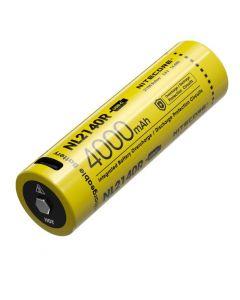 NITECORE NL2140R 4000mAh 3.6V 14.4Wh 21700 USB-C Li-ion Batería recargable
