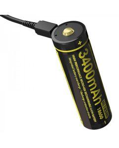 NITECORE NL1834R 3.6V Micro-USB 18650 Batería recargable