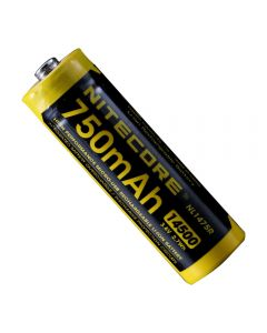NITECORE NL1475R 750mAh14500 3.6V 2.7Wh AA Micro-USB Batería recargable de iones de litio