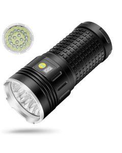 NiteBeam 18xCREE XML T6 4 Modos 15000 Lumen recargable USB Tipo-C Linterna LED