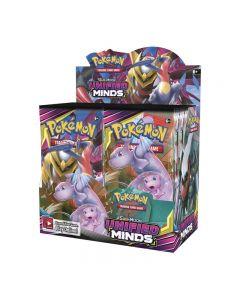 Pokemon TCG: Mentes unificadas Sellado Booster Box Collectible Tarjetas de comercio 36 paquetes