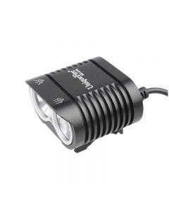 UniqueFire HD-016 2 * Cree XM-L2 4 modos 1800 lúmenes LED bicicleta luz luz delantera de bicicleta-negro