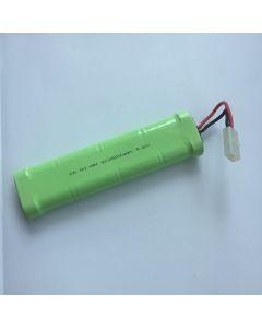 Ni-MH 2500mAh 9.6V SC *8 RC enchufe blanco paquete de batería