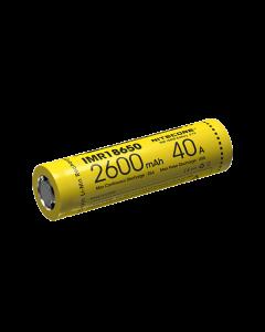 Nitecore IMR18650 2600mAh batería recargable de 40A-1pc