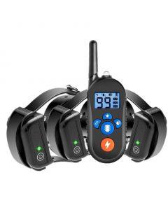 Collar de entrenamiento de perros eléctricos de 800m, collar de choque de perro con 3 modo de entrenamiento, collar electrónica de entrenamiento de choque de perros con remoto para perros pequeños grandes grandes, 100% impermeable