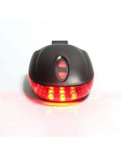 5LED + 2Laser 7 modo ciclismo seguridad bicicleta trasero lámpara, impermeable moto Laser cola luz ADVERTENCIA lámpara intermitente
