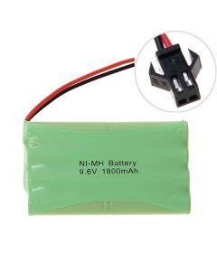 Ni-MH AA 9.6V 1800mAh gran paquete de baterías de conector SM