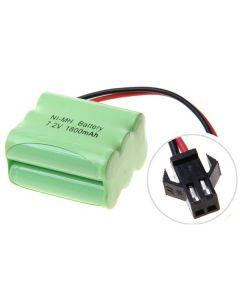 Ni-MH AA 7.2V 1800mAh SM plug 6 * AA Batería