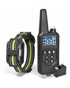 2019 NUEVO 800m electric dog Training Collar Pet Remote Control impermeable recargable con pantalla LCD para collares de parada de corteza de todos los tamaños