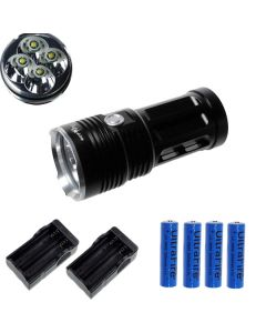 EternalFire rey 4T6 4 * Cree XM-L T6 linterna LED 4000 Lumens 3 modos linterna LED-negro-completo Set