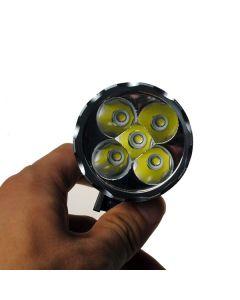 5LED bicicleta luz 5000 Lumens 3 modos LED bicicleta faros incluyen batería y cargador.