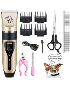 Cajeras eléctricas de carga para mascotas, máquina de afeitadora eléctrica de mascotas y corajistas para el cabello eléctrico del perro, el conjunto de adornos de belleza profesional del perro se puede cargar