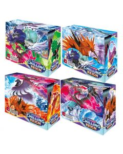 4X360pcs Pokémon TCG: Sword & Shield Chilling Reign Booster Caja de presentación Colección Juego de cartas Juguete Regalo para niños