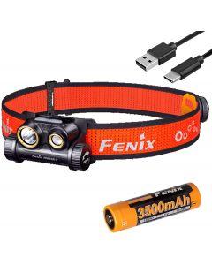 Fenix HM65R-T 1500 lúmenes doble haz USB-C faro recargable, ligero para trail running con LumenTac Organizador de baterías