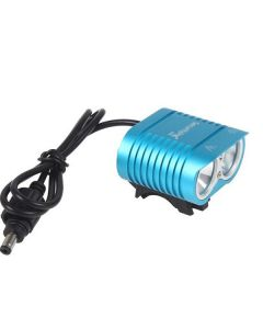 UniqueFire HD-016 2 * Cree XM-L2 4 modos 1800 lúmenes LED bicicleta bicicleta delantera luces-azul claro