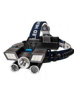 5LED faro USB campamento de carga caminata de emergencia equipo de pesca al aire libre