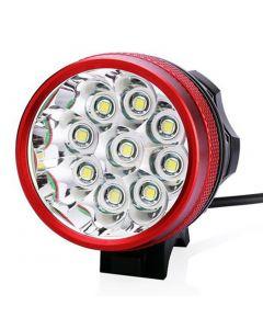 9T6 bicicleta luz 9 * Cree XM-L T6 10800 Lumens 3 modos LED bicicleta faros incluyen batería y cargador - rojo