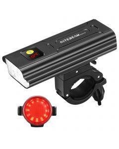 NiteBeam BR05 luces de bicicleta 5X Cree XML T6 5000 lúmenes usb recargable bicicleta luz delantera y bicicleta cola luz