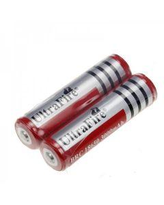 UltraFire BRC 3000mAh 3.7V 18650 Batería con pcb (1 par)