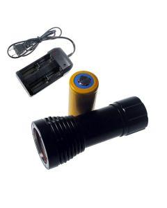 D32VR buceo luz de 2 x 2 xCREE antorcha XP-E 100 metros bajo el agua fotografía buceo linterna CREE XM-L T6 + 1 x 32650 + cargador