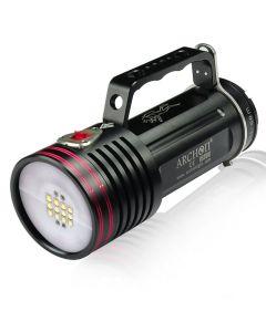 Archon DG70W/WG76W 12 * luz blanca de LED CREE XM-L2 U2 4 * CREE XP-E N3 3 modos submarino fotografiar luces rojas + 6 * 18650 + cargador