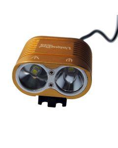 UniqueFire HD-016 2 * Cree XM-L2 4 modos 1800 lúmenes LED bicicleta luz bicicleta delantera luces-Glod