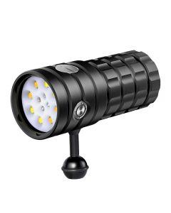 NiteBeam UV 395-400nm linterna de buceo 8 XHP50 luz blanca / 4x luz roja / 4x luz UV LED linterna de buceo