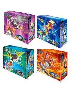2021 NUEVO 4x360PCS Pokemon TCG: Shining Fates Box Box Tarjeta de comprobación Juguetes Juguetes