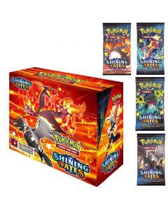 2021 NUEVO 360 unids Pokemon TCG: Shining Fates Box Box Tarjeta de comercio Juguetes Juguetes