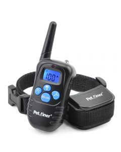 PetraReer 998D 300m Cuello de perros eléctrico remoto de choque de choque Vibración recargable recargable de impermeable Collar de entrenamiento de perros con pantalla LCD