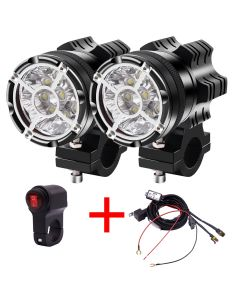 LED moto Spotlight Universal V 9led perlas 90W impermeable fog Spot Motos bulbo faro lámpara auxiliar