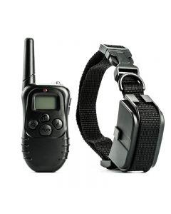 300M Electricero eléctrico de entrenamiento de perros, control remoto impermeable, control remoto, con control remoto LCD para todo tamaño, choque de vibración, collar de mascotas de sonido