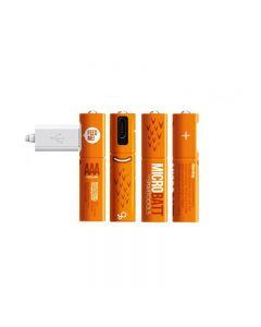 Batería recargable 1.2V 450mAh AAA Ni-MH USB para el ratón de control remoto carga rápida por cable micro USB (4 Pack cable USB)