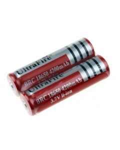 Ultrafire BRC 4200mAh 3.7V Li-ion recargable 18650 batería (1 par)