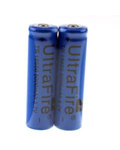Ultrafire TR 5000mAh 3.7V 18650 Li-ion batería recargable (1 par)