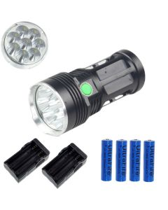 EternalFire rey 8T6 8 * Cree XM-L T6 linterna LED 8000 Lumens 3 modos linterna LED-negro-completo Set