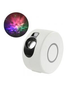 Láser estrellado Sky proyector de luz nocturna 7 colores 360 grados rotación Galaxy proyección lámpara de proyección ambient dormitorio noche iluminación regalo