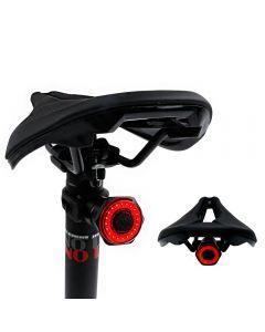 Smart Bicycle Tail Luz trasera Auto Start Stop Brake IPX6 Waterproof USB Charge Cycling Taillight Bike LED Lights