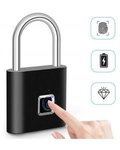 Bloqueo de huellas dactilares Smart Candado huella digital Puerta Candados portátil antirrobo de huellas dactilares bloqueo para bolsa cajón maleta