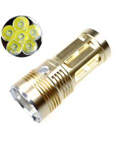 EternalFire rey 6T6 6 * Cree XM-L T6 linterna LED 6000 Lumens 3 modos LED linterna-Glod-luz unidad sólo