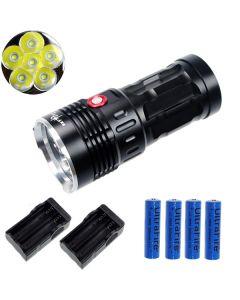 EternalFire rey 6T6 6 * Cree XM-L T6 linterna LED 6000 Lumens 3 modos linterna LED-negro-completo Set