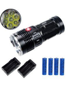 EternalFire rey 7T6 7 * Cree XM-L T6 linterna LED 7000 Lumens 3 modos linterna LED-negro-completo Set