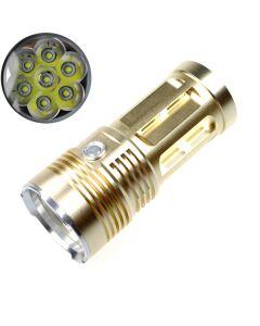 SKY KING RAY 7T6 7xCree XM-L T6 9000 lúmenes 3-modo LED linterna [Color dorado]