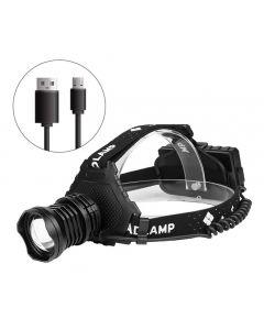 Más potente XHP70 Led faro 8000LM lámpara de cabeza USB recargable faro impermeable zoom luz de pesca uso 18650 batería